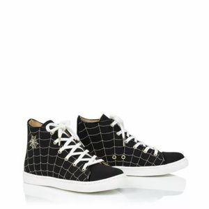 Charlotte Olympia Incy Girls 26 Web High Top Shoes